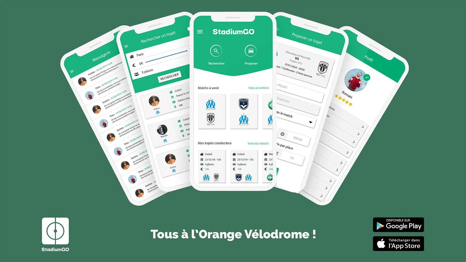 L'Olympique de Marseille s'associe avec l'application StadiumGO