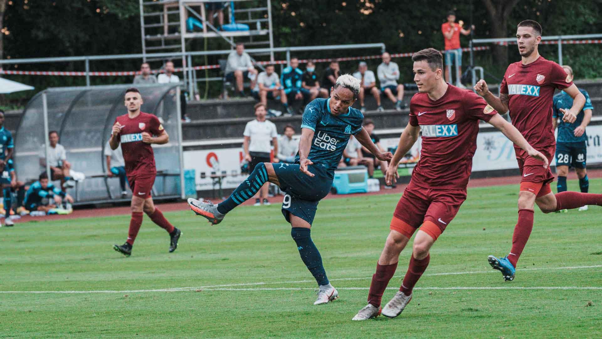 Florian Chabrolle a inscrit son but en prenant le gardien à contre-pied.